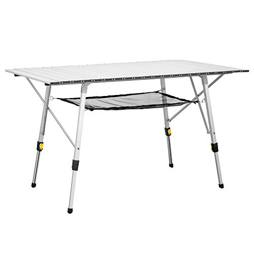 Uquip Variety L Aluminium Campingtisch - Stufenlos höhenverstellbar (120x70 cm)