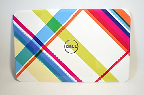 4929F NEW Dell Inspiron 15R N5110 Laptop Notebook Display Visual Monitor 15.6 Inch Rear Back Plaid Cover Top Panel Case Assembly LCD LID Snap On Switch Switchablele
