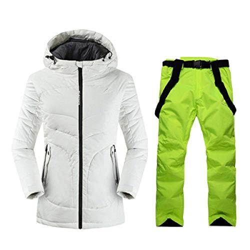 JSGJHXF2019 Skipak van hoge kwaliteit voor ski-jack en broek, warm waterdicht, winddicht, ski- en snowboarpakken, winterskipak, dames merk