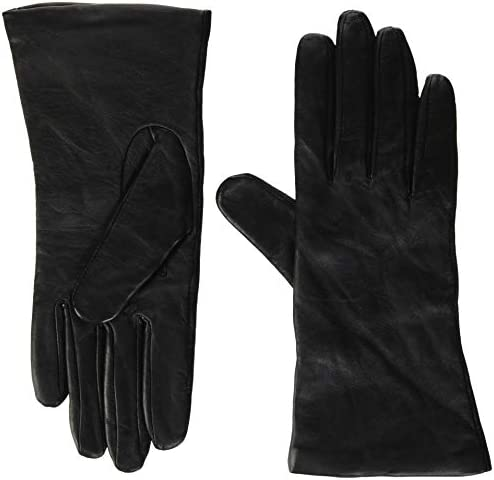 Fownes Women s Cashmere Lined Black Conductive Lambskin Leather Gloves 6 5 S product image