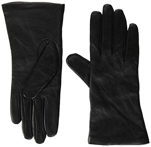 Fownes Women's Cashmere Lined Black Conductive Lambskin Leather Gloves 6.5/S