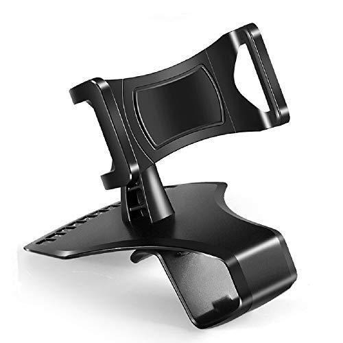 DFV mobile - Supporta Smartphone GPS per Auto 3 in 1: Cruscotto/Visiera con Clip + Griglia di Ventilazione con Clip per ASUS ZenFone Go ZB500KG - Nero