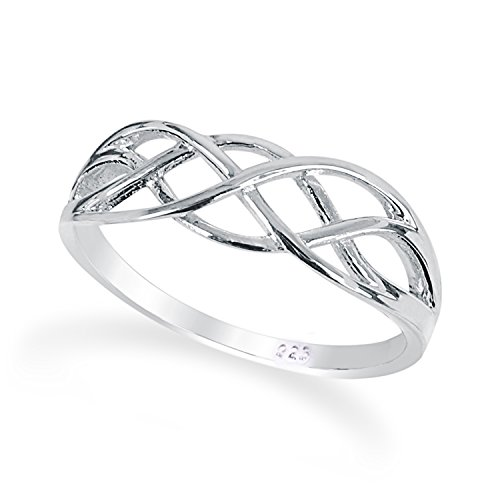 Solid 925 Sterling Silver Everlasting Love Knot Ring in Sizes G-Z comes Gift Boxed (Z)