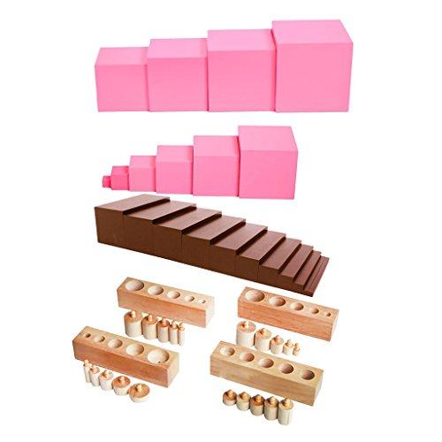 Cilindros, torre rosa y escalera marrón