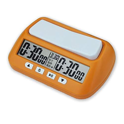 YaGFeng Reloj De Ajedrez Relojes de ajedrez Digital Profesional Portátil Junta de ajedrez Competición Juegos de ajedrez Electronic Alarm Stop Temporizador Adecuado para La Decoración del Hogar