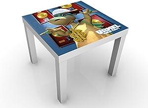 Urmel Voll in Fahrt–Superstar Mesa de diseño 55x 45x 55cm Mesa Auxiliar, Mesa de café, diseño, Zimmer, 5Palabras