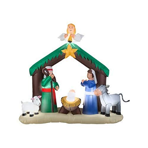 Gemmy 36707 Christmas 7' Nativity Scene | Airblown Inflatable