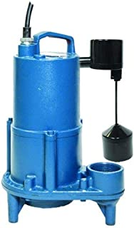 Barnes SEV412VFT Submersible Cast Iron Sewage Pump – 1/2-HP, 4,260 GPH, 20' Cord, Attached Vertical Float Switch, For Sewage Use