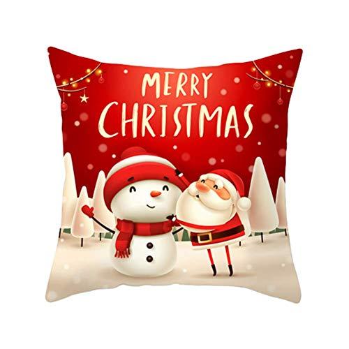 Cojines de Navidad Almohada Navidad Funda de Almohada Cuadrada de Navidad Funda de Almohada de Navidad teñida 5