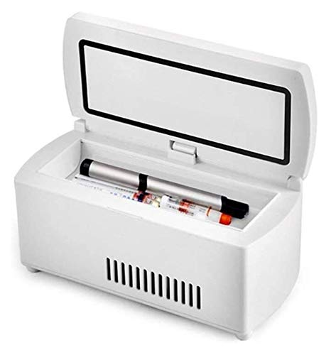 SHUHANG Refrigerador de refrigerador refrigerador con Control de Temperatura avanzado Caja de Viaje portátil para enfriadores de Drogas (Color : White, Size : 23.5x11x10.5cm)
