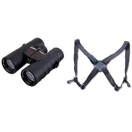 Steiner Safari UltraSharp 10x42 Fernglas - lichtstark, kontrastreich, robust, wasserdicht & Harness Komfort-Tragegurt für Ferngläser - zur Entlastung der Nacken- und Rückenmuskulatur