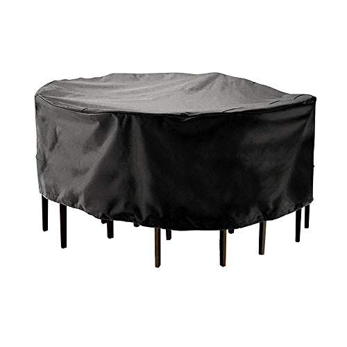 XiaoOu Patio Furniture Cover 2 Sizes Round Cover Waterproof Outdoor Patio Garden Furniture Cover Rain Snow Chair Covers Sofa Table Chair Dust Proof Cover,185x110cm