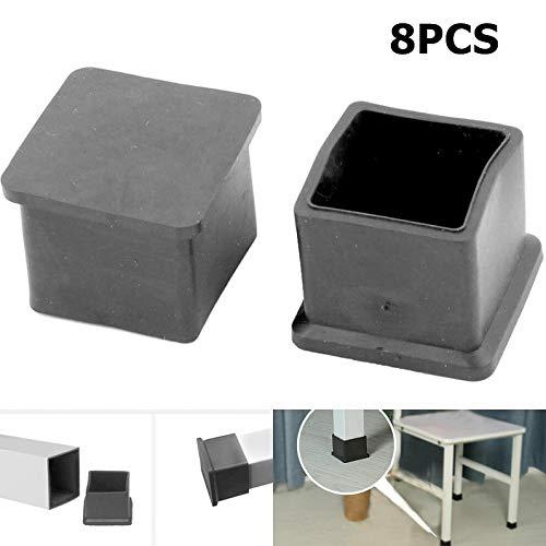 8 Stücke Platz Stuhl Tisch Hocker Beinkappen Schwarz rutschfeste Bodenschoner Schlafsaal Hause Gummi Möbel Beinabdeckung Pads Aderendhülsen