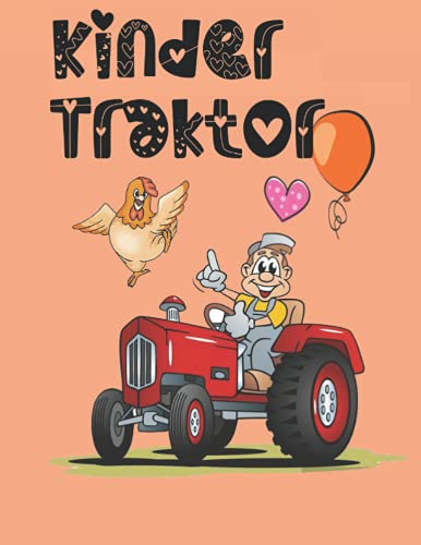 kinder traktor: kritzelmalbuch ab 2, ausmalbuch kinder ab 2, traktor buch ab 2 jahre, malbuch bauernhof