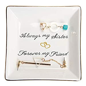 Always my sister forever my friend.A Sentimental gift to remind your love to sister and friendship.She will think of you whenever she look at it Crafted from high quality glazed ceramic,Well packed with styrofoam and white box Leave it by the sink or...