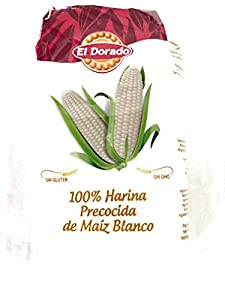Harina de maíz blanco 100% pre-cocida y sin gluten El Dorado 1kg by Kaptalanshop