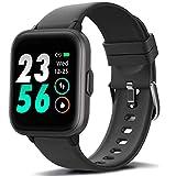 MorePro Smart Watch 18 Sport Modes Activity Tracker Heart Rate Fitness Watch Blood Oxygen Monitor Sleep Tracker Calories Pedometer Waterproof Smart Band Sports Bracelet for Men, Women, Kids (Black)