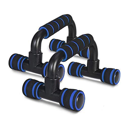 wdsin プッシュアップバー 腕立て伏せ 組み立て式 軽量 滑りにくい 2個セット ブルー