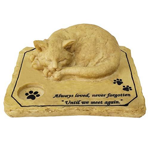 YARNOW Marcador de Piedra Conmemorativa para Mascotas para Escultura de Gato Piedra de jardín para Gato Querido Decorativo