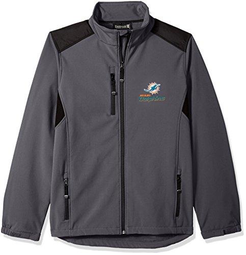 Dunbrooke Apparel NFL Miami Dolphins Men's Softshell Jacket, 3X, Graphite