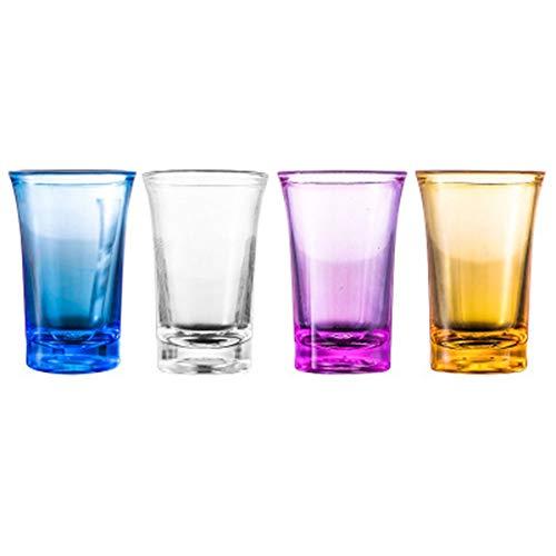 Camisin 12 unids vaso de chupito acrílico partido KTV boda juego Copa para whisky vino vodka bar club cerveza vino 35 ml botella de regalo