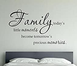 USA Decals4You | Beautiful Wall Stickers Quotes Family Today's Little Moments Become Tomorrow's Precious Memories Decals Vinyl Decor MK0395