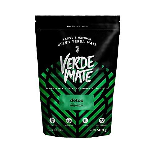 Verde Mate Green Detox 500g | Yerba Mate Té con Hierbas | Yerba Mate de Brasil | Yerba Mate Herbal Desintoxicante | Sin gluten | Sin Humo (Comestibles)