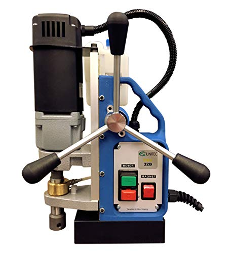 CS Unitec   32B Portable Magnetic Drill Press   900W 1-speed Benchtop Power Drill Machine w/up to 1-1/2