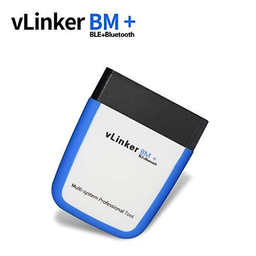 TONWON OBDII Bluetooth, Vgate vLinker BM+ OBD2 diagnosegerät OBD Adapter Kontrollieren Sie die Motorleuchte für Android, IOS und Windows (Bluetooth 4.0)