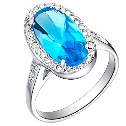 KnSam Herren Ring Verlobung Partnerringe In Silber Kupfer Versilber Eiförmig Silber Ring Valentinstag Gedenkenstag Geschenk