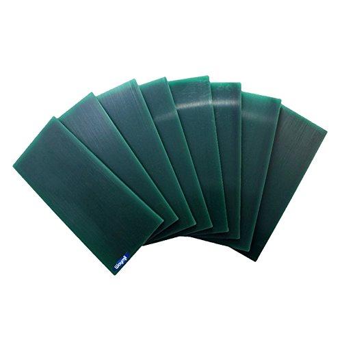 """MATT WAX CARVING TABLES GREEN 8 FLAT TABLETS 6x2-5/8"""" JEWELRY MODEL MAKER DESIGN"""