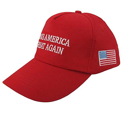iMixCity Unisex Baseballmütze der Kampagne für das amerikanische Präsidentenamt Donald Trump US Wahl-Hut Einstellbare (A# Rot)