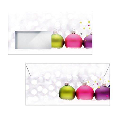 Sigel Du018 'Kerst Kleuren' Dl Kerst Enveloppen met Raam (50 stuks)