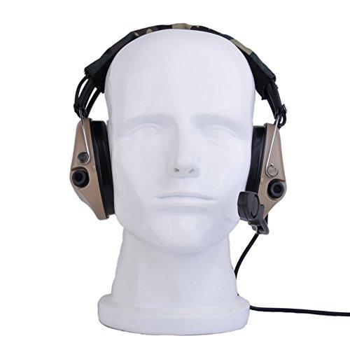 Tactical Sordin Headset-Abdeckung mit Militär-Standard-Stecker, DE, Einheitsgröße