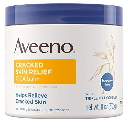 Aveeno Cracked Skin Relief CICA Balm with Triple Oat Complex, Moisturizing Dimethicone Skin Balm, Fragrance-Free, 11 oz