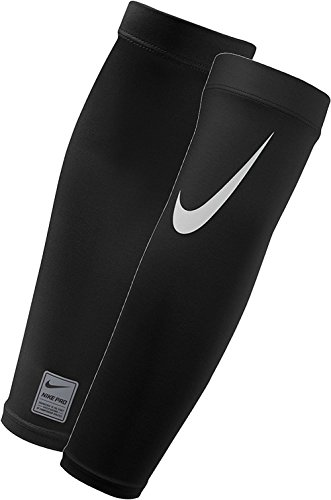 NIKE Pro Adult Dri-FIT 3.0 Arm Sleeves (Black/White, Small/Medium)