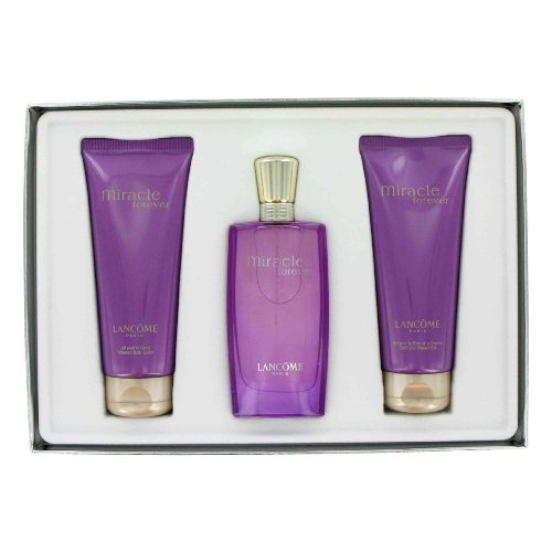 Miracle Forever By Lancome Set Value $93 for Women EDP Spray 1.7 Oz+ Body Lotion 3.4 Oz.+bath and Shower GEL 3.4 Oz.