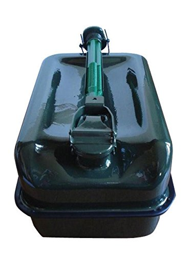 IMDIFA 97103- Bidón de Fondo Plano en Metal con Capacidad para 10 L y Grifo vertedor.