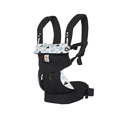 ERGO Baby Carrier 360 Triple Triangles, 4-Position Child Carrier and Backpack