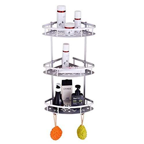 NIUZIMU 3-stufiges Duschregal aus Aluminium, Aufbewahrungsregal für Shampoo, Duschgel und mehr -01256