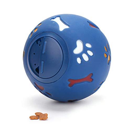 CJMING Futterball Hundeball, Gummi Hundespielball Robustes Kauspielzeug Leckerliball Futterball, Haustierspielzeug Puzzle-resistent Biss Hundetraining Produkt