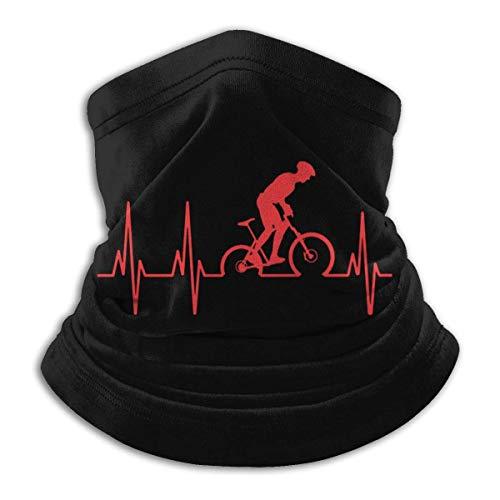 Mountain Bike Heartbeat Microfiber Neck Warmer Unisex Headbands Bandana Scarf Head Wrap Balaclava For Outdoor Sports For Mens Womens