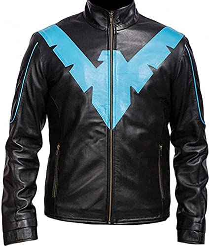 Danny Shepherd Famous Dick Grayson Nightwing Jacket | Night Wing Real Leather Jacket (XL)