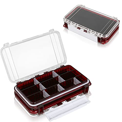 AIsou Fishing box Lures box Accessory box fishing accessories waterproof box Double-sided storage Portabl