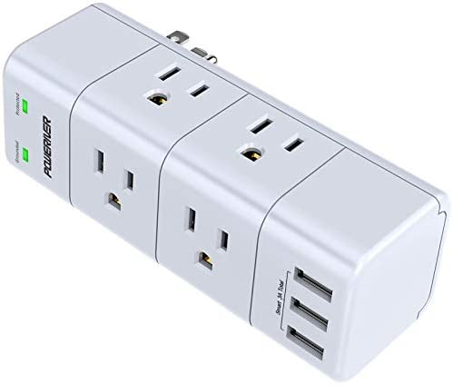 Surge Protector Wall Mount Outlet Splitter with Rotating Plug POWERIVER Power Strip with 6 Outlet product image