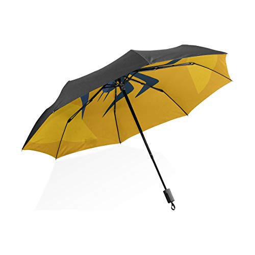 Travel Inverted Umbrella Mode und schöne Spinne Tattoo tragbare kompakte klappbare Regenschirm Anti-UV-Schutz Winddichte Outdoor-Reise Frauen Durable Umbrella