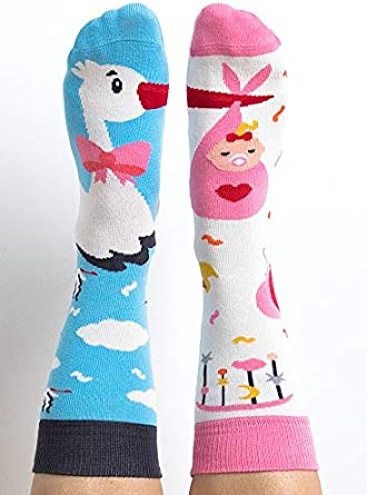 Homme b/éb/é Fantaisie poussette cigogne Chaussettes Couleur fille Its a Girl Femme Humour Nanushki Chaussettes Mottif