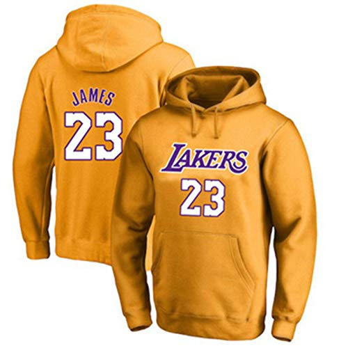 DFGTR Los Angeles Lakers #23 - Sudadera con capucha para baloncesto LeBron James Casual con capucha y bolsillos - Naranja
