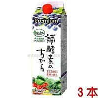 プレミアム補酵素のちから 植物乳酸菌入り1000ml 3本