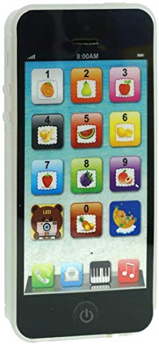 Black Yphone Y-Phone Phone Toy Play Music Learning English Educational Cell Phone Mobile Best Prize for Baby Kids Children